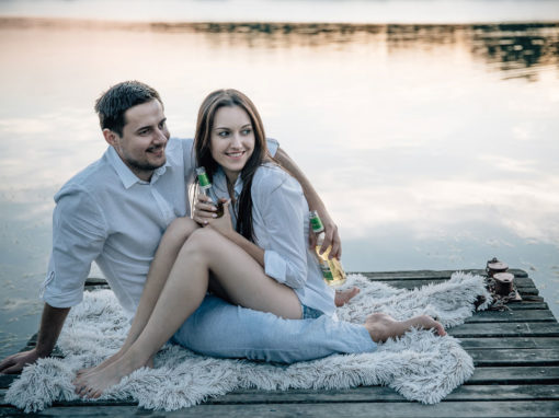 Kalina i Mateusz | Sesja narzeczeńska nad jeziorem